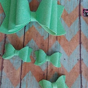 Other - Water resistant light green hair bows